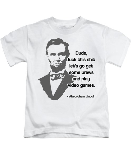 Abebroham Lincoln Kids T-Shirt by Michelle Murphy