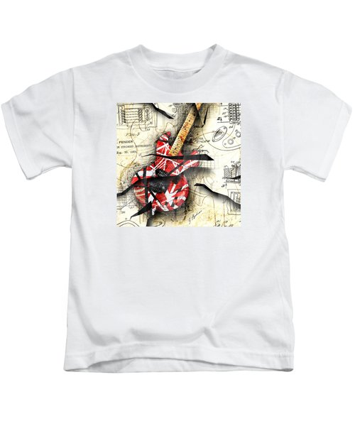 Abstracta 35 Eddie's Guitar Kids T-Shirt by Gary Bodnar