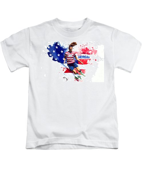 Alex Morgan Kids T-Shirt by Semih Yurdabak