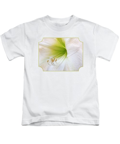 Alluring Amaryllis Kids T-Shirt by Gill Billington