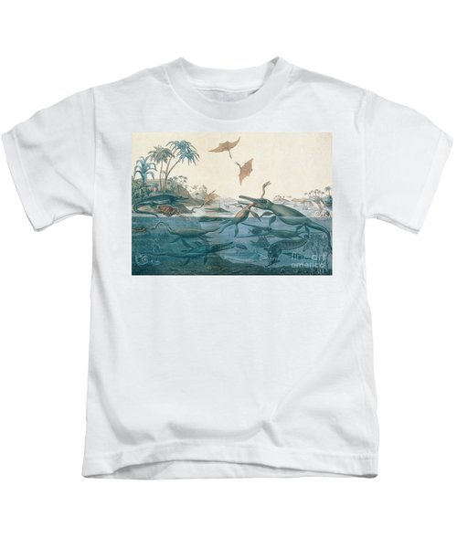 Ancient Dorset Kids T-Shirt by Henry Thomas De La Beche