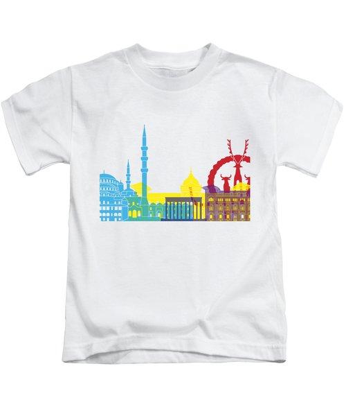 Ankara Skyline Pop Kids T-Shirt by Pablo Romero