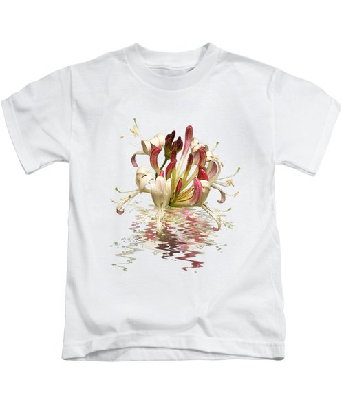 Honeysuckle Reflections Kids T-Shirt by Gill Billington