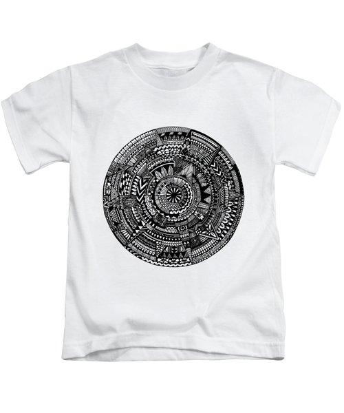Asymmetry Kids T-Shirt by Elizabeth Davis