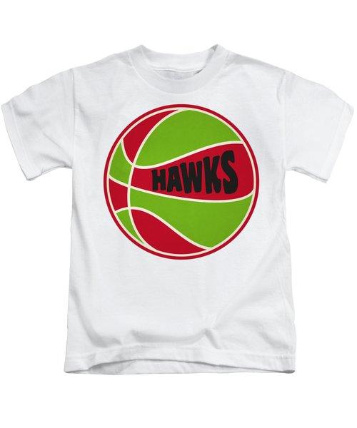 Atlanta Hawks Retro Shirt Kids T-Shirt by Joe Hamilton