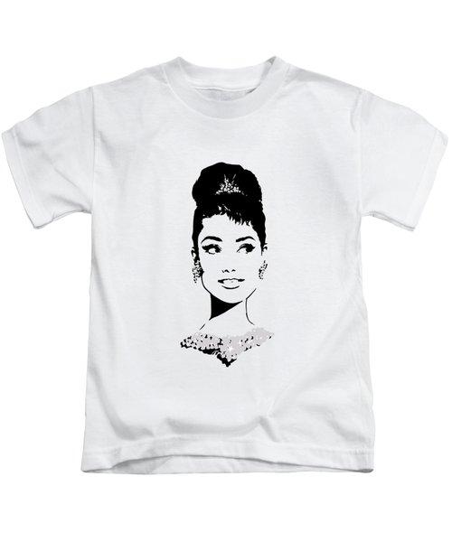 Audrey Kids T-Shirt by Rene Flores