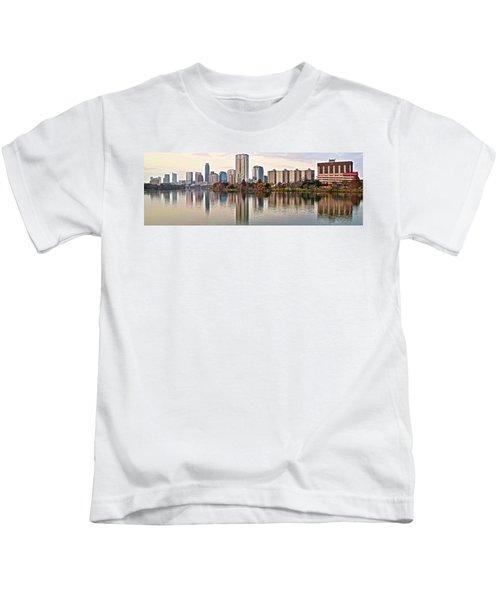 Austin Wide Shot Kids T-Shirt by Frozen in Time Fine Art Photography