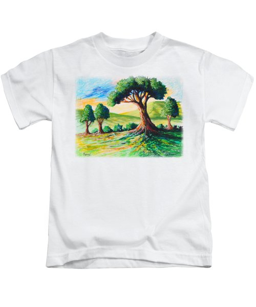 Basking In The Sun Kids T-Shirt by Anthony Mwangi