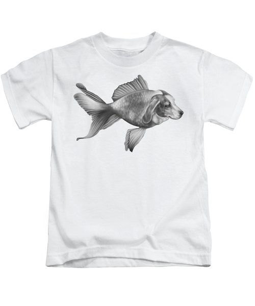 Beaglefish Kids T-Shirt by Courtney Kenny Porto