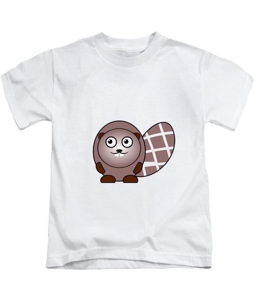 Beaver - Animals - Art For Kids Kids T-Shirt by Anastasiya Malakhova