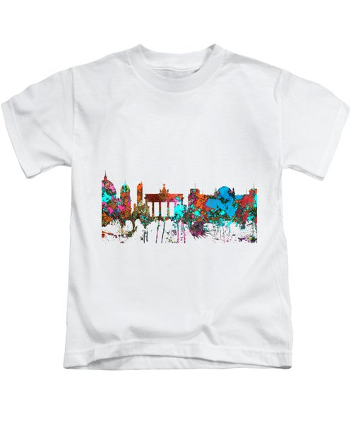 Berlin Germany Skyline  Kids T-Shirt by Marlene Watson