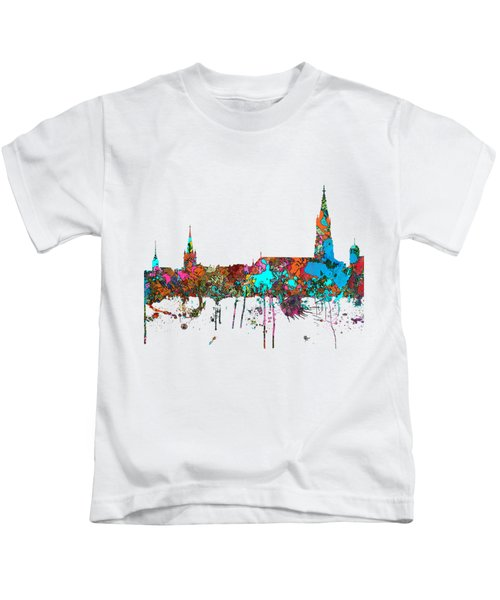 Berne Switzerland Skyline Kids T-Shirt by Marlene Watson