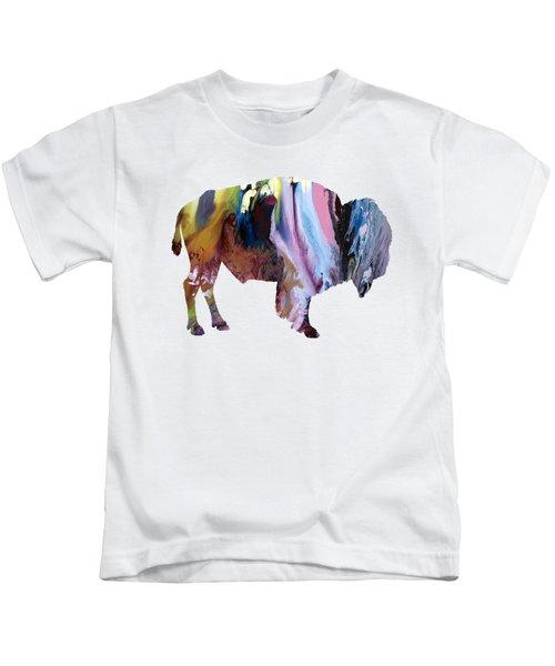 Bison Kids T-Shirt by Mordax Furittus