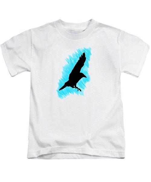 Black And Blue Kids T-Shirt by Linsey Williams