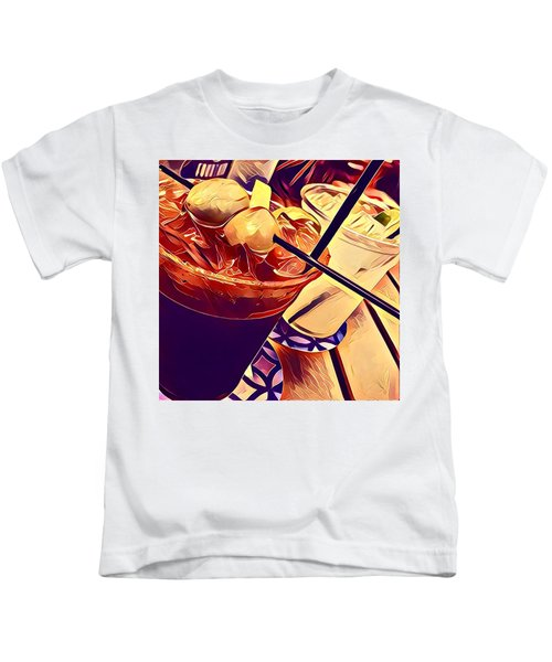 Bloody Mary And Moscow Mule Kids T-Shirt by Frush Photos