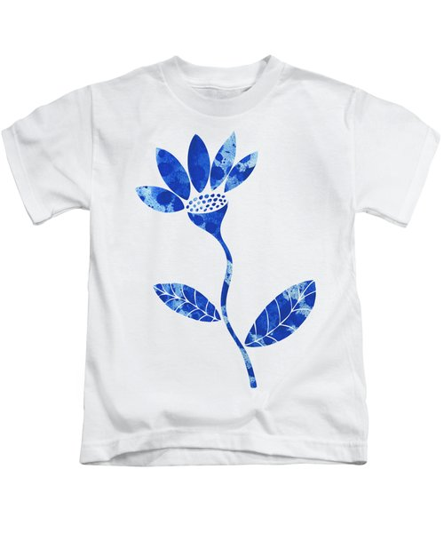 Blue Flower Kids T-Shirt by Frank Tschakert