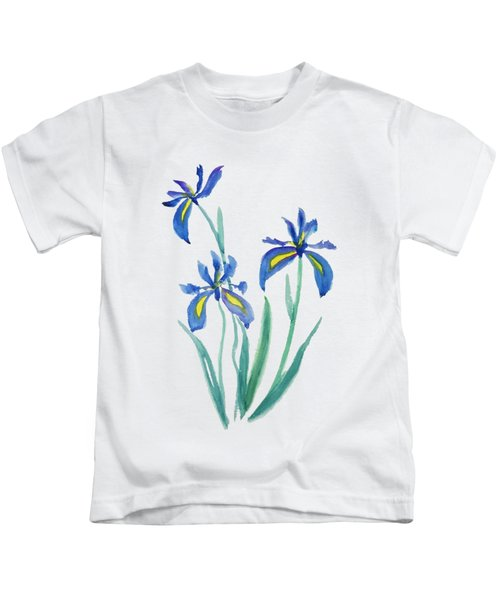 Blue Iris Kids T-Shirt by Color Color