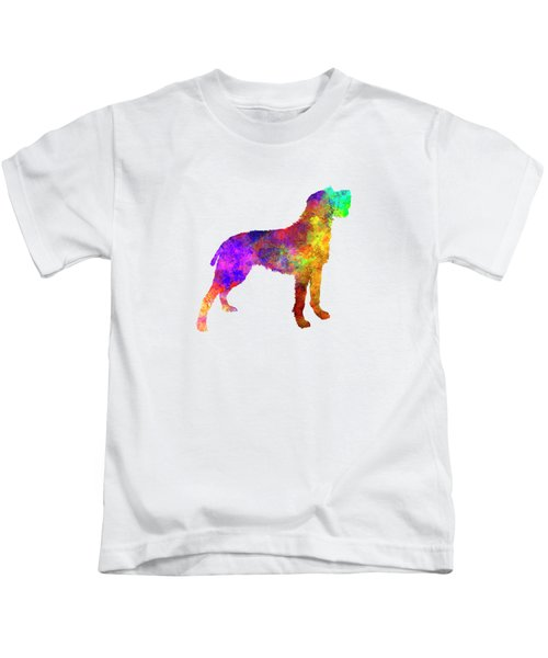 Bohemian Wirehaired Pointing Griffon In Watercolor Kids T-Shirt by Pablo Romero