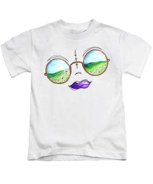 Boho Gypsy Daisy Field Sunglasses Reflection Design From The Aroon Melane 2014 Collection By Madart Kids T-Shirt by Megan Duncanson