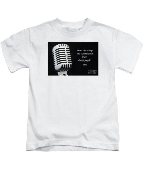 Bono On Music Kids T-Shirt by Paul Ward