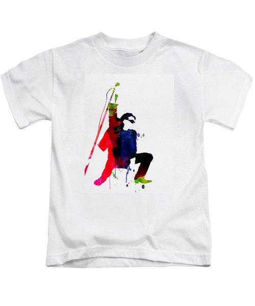 Bono Watercolor Kids T-Shirt by Naxart Studio