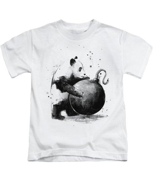 Boom Panda Kids T-Shirt by Olga Shvartsur