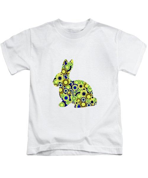 Bunny - Animal Art Kids T-Shirt by Anastasiya Malakhova