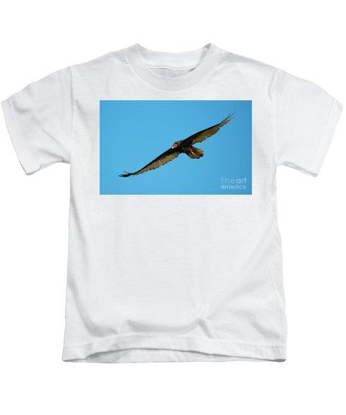Buzzard Circling Kids T-Shirt by Mike Dawson