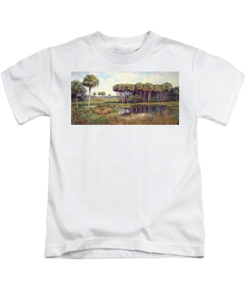 Cabbage Palm Hammock Kids T-Shirt by Laurie Hein