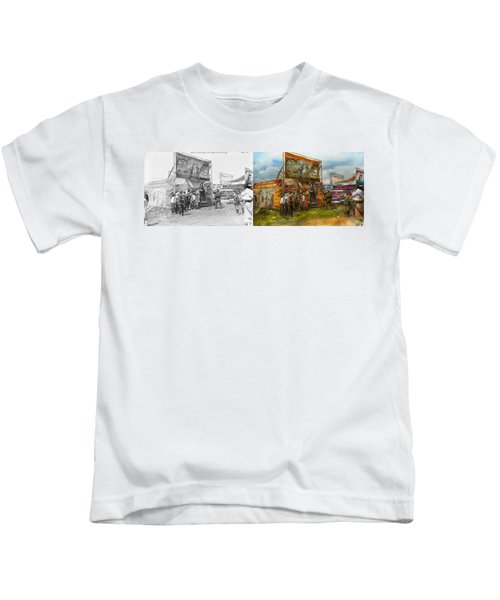 Carnival - Wild Rose And Rattlesnake Joe 1920 - Side By Side Kids T-Shirt by Mike Savad