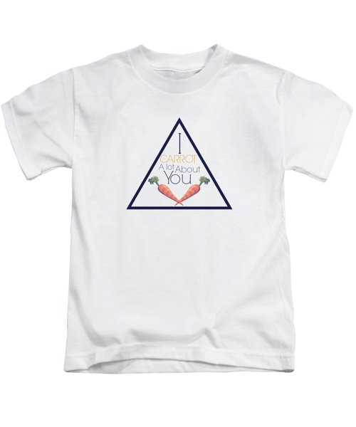 Carrot About You Pyramid Kids T-Shirt by Lunar Harvest Designs