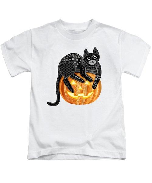 Cattober Kids T-Shirt by Veronica Kusjen