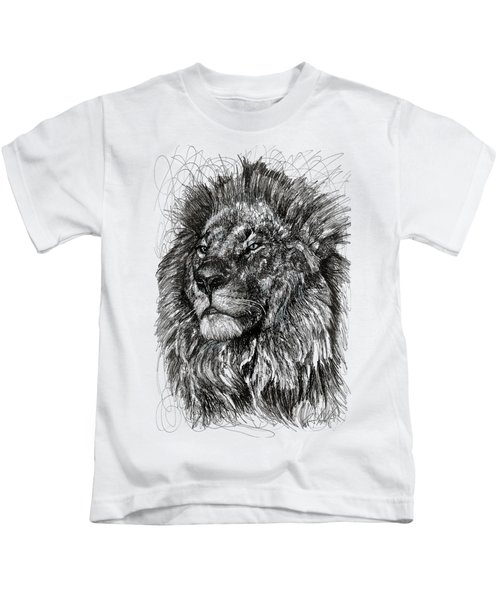 Cecil The Lion Kids T-Shirt by Michael  Volpicelli