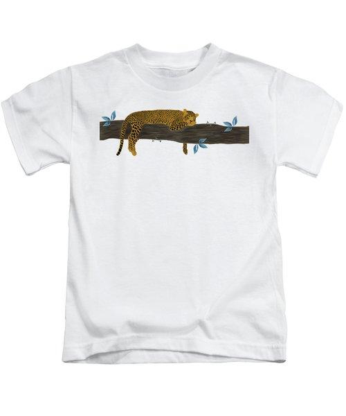 Cheetah Chill Kids T-Shirt by Priscilla Wolfe