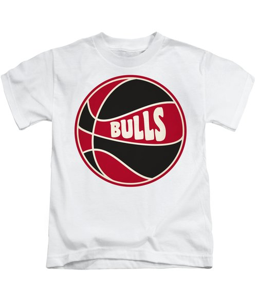 Chicago Bulls Retro Shirt Kids T-Shirt by Joe Hamilton