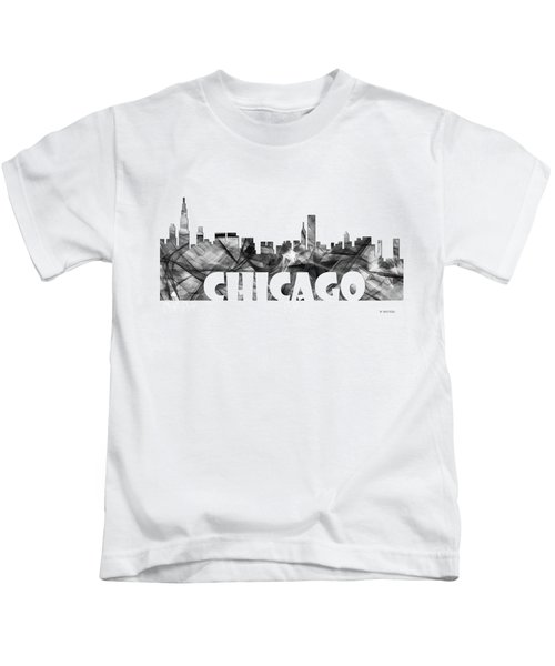 Chicago Illinios Skyline Kids T-Shirt by Marlene Watson