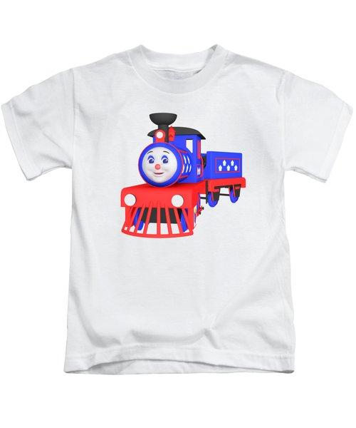 Choo-choo The Train - 1 Kids T-Shirt by Yulia Litvinova