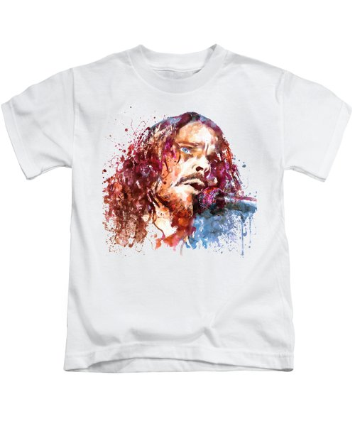 Chris Cornell Kids T-Shirt by Marian Voicu