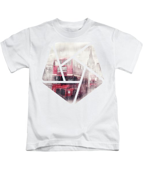 City-art London Westminster Collage II Kids T-Shirt by Melanie Viola