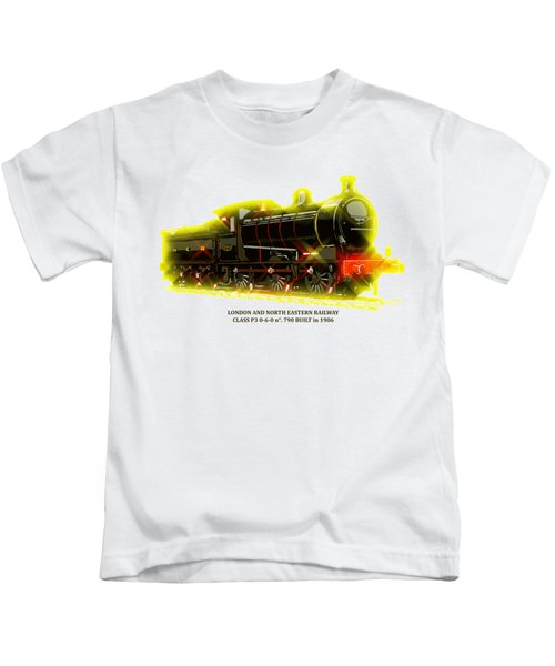 Classic British Steam Locomotive Kids T-Shirt by Heidi De Leeuw