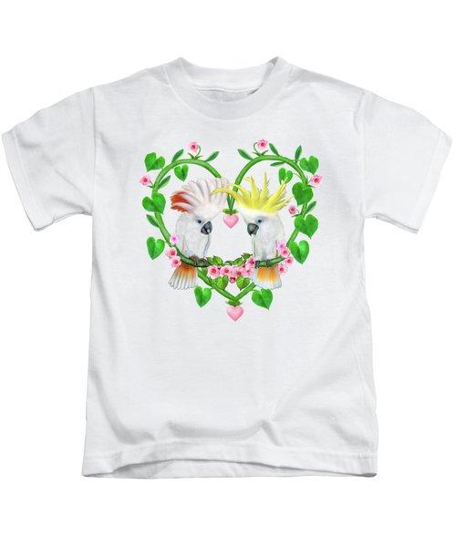 Cockatoos Of The Heart Kids T-Shirt by Glenn Holbrook