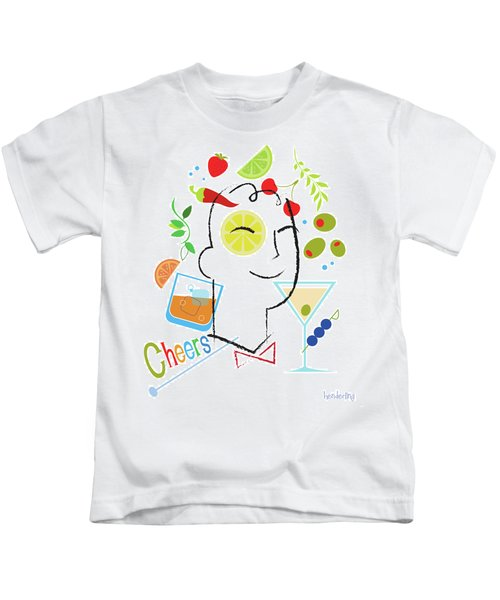 Cocktail Time Kids T-Shirt by Lisa Henderling