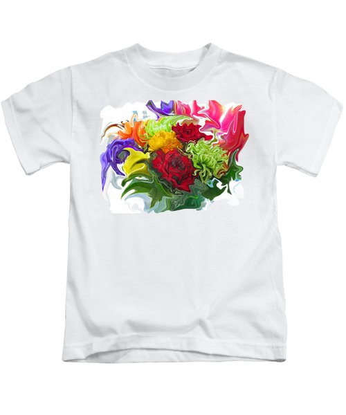 Colorful Bouquet Kids T-Shirt by Kathy Moll