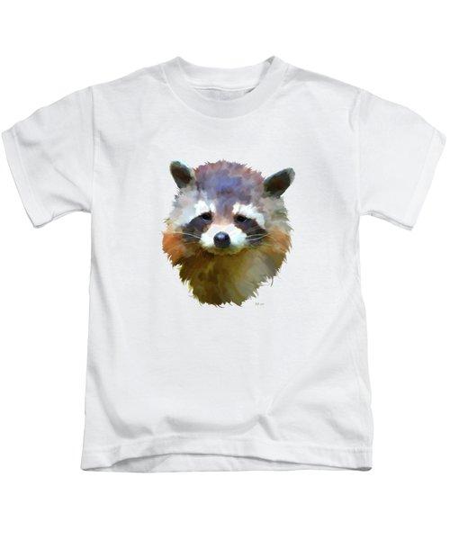 Colourful Raccoon Kids T-Shirt by Bamalam  Photography