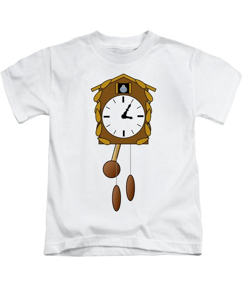 Cuckoo Clock Kids T-Shirt by Miroslav Nemecek