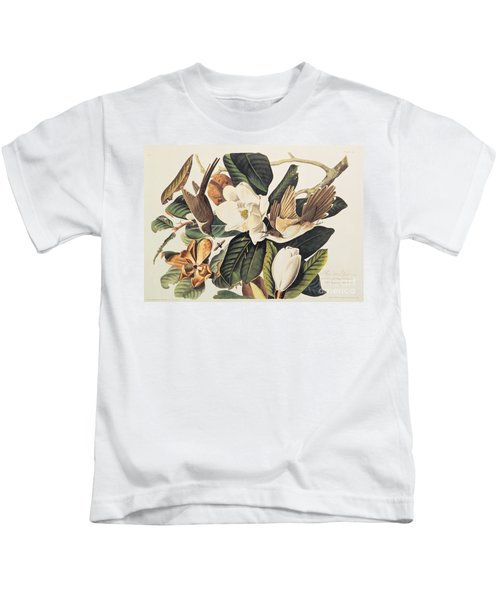 Cuckoo On Magnolia Grandiflora Kids T-Shirt by John James Audubon