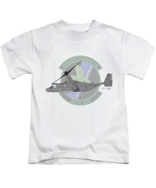 Cv-22b Osprey 20sos Kids T-Shirt by Arthur Eggers