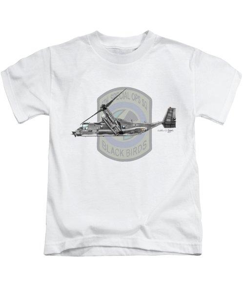 Cv-22b Osprey 8sos Kids T-Shirt by Arthur Eggers