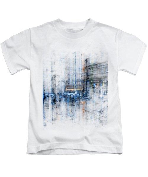 Cyber City Design Kids T-Shirt by Martin Capek