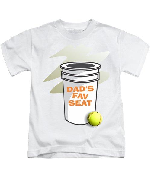 Dad's Fav Seat Kids T-Shirt by Jerry Watkins